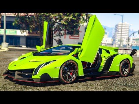 SUPER RARE LAMBORGHINI STUNT! - (GTA 5 Mods)