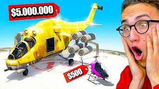 $500 Helicopter VS. $5,000,000 Helicopter In GTA 5