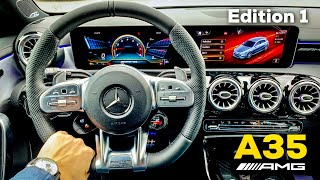 2019 MERCEDES AMG A35 Edition 1 FULL REVIEW Interior AMG Performance Seats Ambient Lights Track Pace