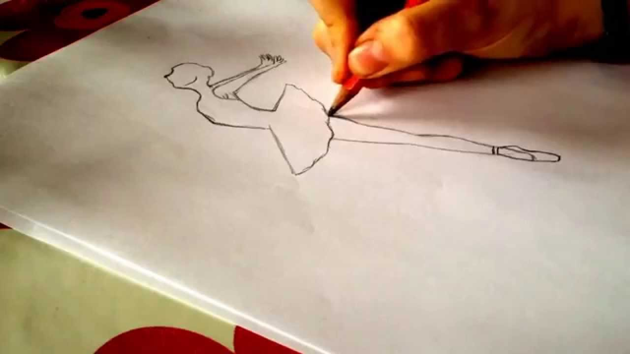 how to draw u2014a ballerina youtube