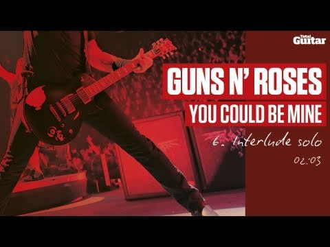 Guitar Lesson: Guns N' Roses 'You Could Be Mine' -- Part Six -- Interlude Solo (TG216)
