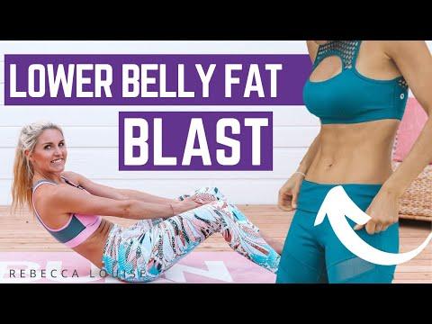 10 MIN LOWER BELLY FAT BLAST | Rebecca Louise