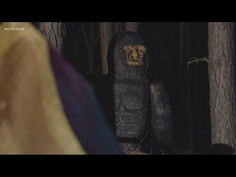 Chris Carmichael - Somebody Leaves Bigfoot Statue In North Carolina Woods
