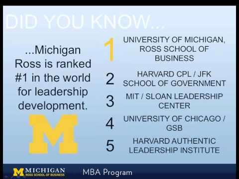 MBA Admissions Chat- Stephen M. Ross School of Business - University of Michigan