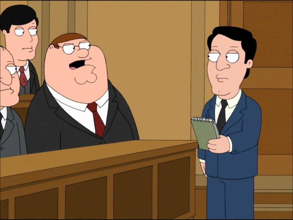 family guy peter goes to jury duty hd youtube