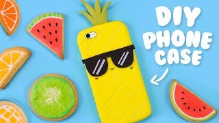 DIY 2 INGREDIENTS PHONE CASE!? - How to make a Pineapple Phone Case at Home