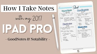How I Take Notes On My Ipad Pro | GoodNotes 5 & Notability | Pharmacy School