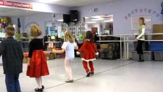 Brooke tap dancing to boogie woogie santa claus