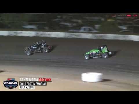 USAC/CRA Sprint Car Highlights | Santa Maria Raceway 7.7.18