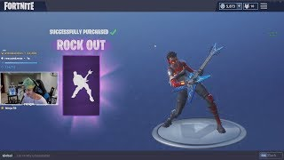 Ninja Reacts To the NEW ROCK OUT EMOTE (Fortnite Battle Royale)