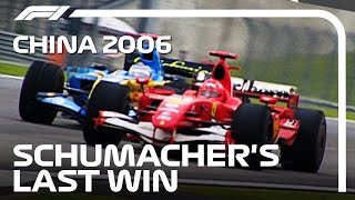 Michael Schumacher's 91st And Final Win | 2006 Chinese Grand Prix Highlights