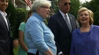 Biden Shows Childhood Scranton Home To Clinton