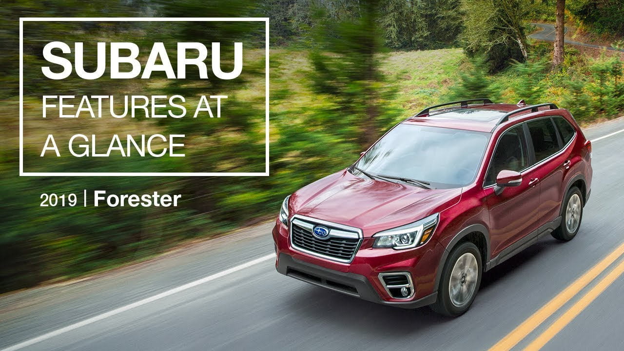 2019 Subaru Forester Features At A Glance Youtube