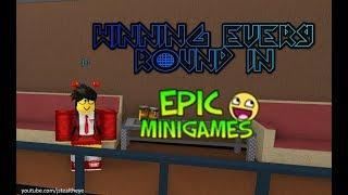 Roblox Epic Minigames: Winning all 75 minigames (Minigame Master badge)