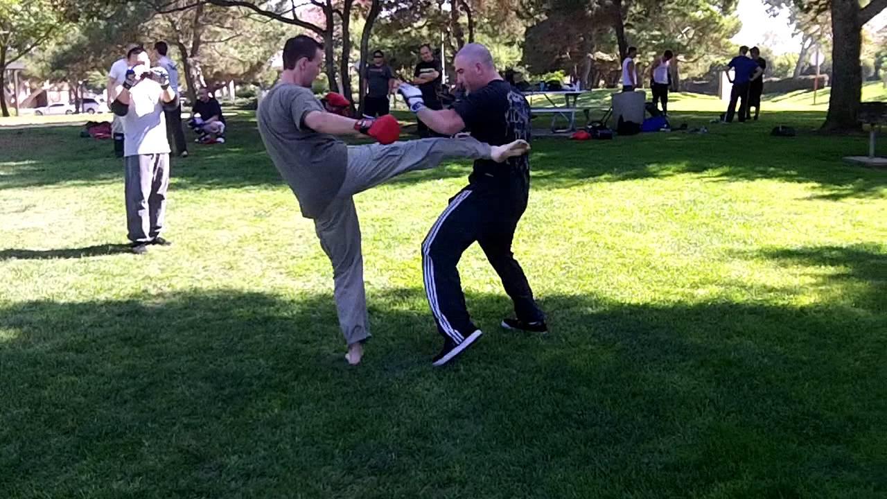 takeshikai karate vs boar bando at open martial arts meetup sparring