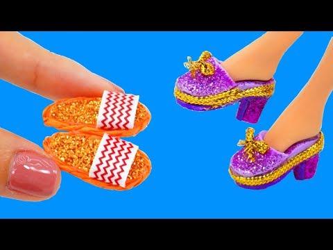 DIY BARBIE DOLL SET: 6 Cool Miniature Handbag, Shoes and more! 💖 How to Make Miniature Craft
