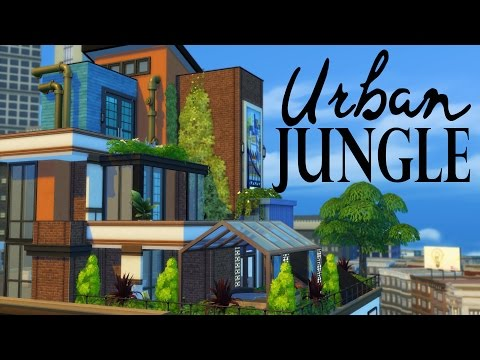The Sims 4 | Penthouse Building - Urban Jungle w/Dutchsims4master