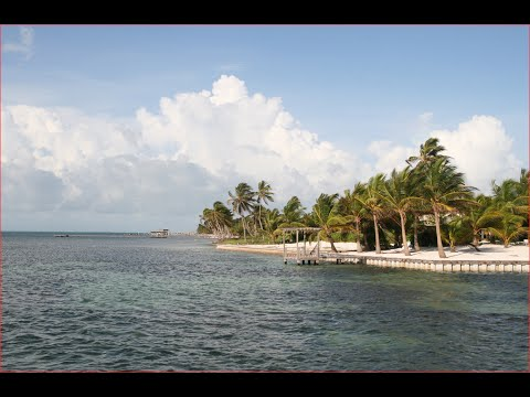 Visiting Ambergris Caye, Island in Belize, Central America