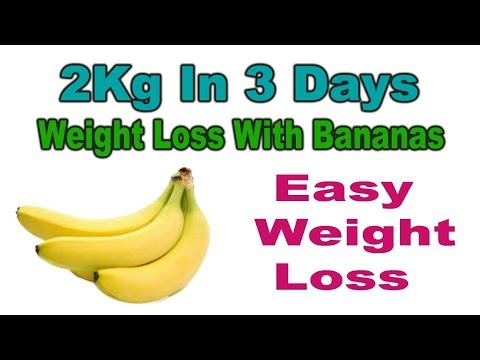 banana diet plan how much weight loss