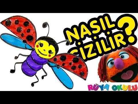 Nasıl Çizilir? - Uğur Böceği - Uç Uç Böceği - Çocuklar İçin Resim Çizme - RÜYA OKULU