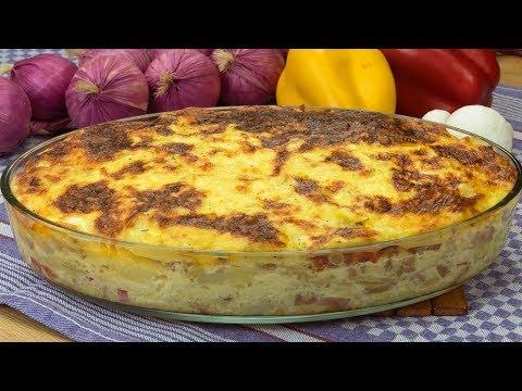 gratin-de-pomme-de-terre-aux-saucisses-et-aux-champignons-cuit-au-four-!-|-savoureux.tv