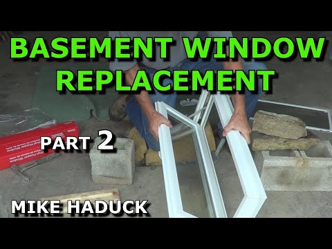 How I replace a basement window (part 2 of 3) Mike Haduck