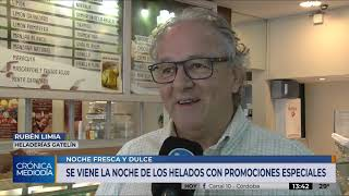 Cómo será la Noche de las Heladerías en Córdoba