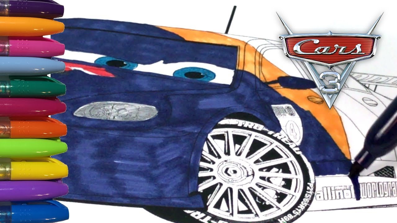 cars 3 coloring pages max schnell fast and furious youtube