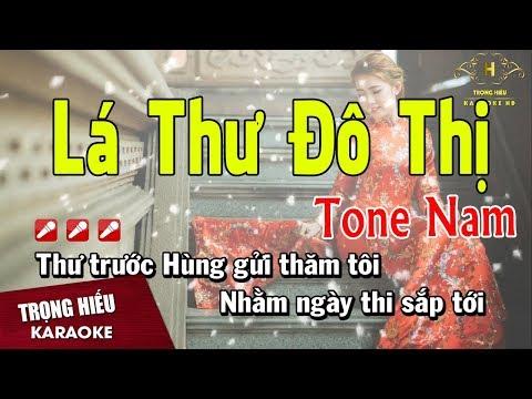 Karaoke Lá Thư Đô Thị Tone Nam Nhạc Sống   Trọng Hiếu
