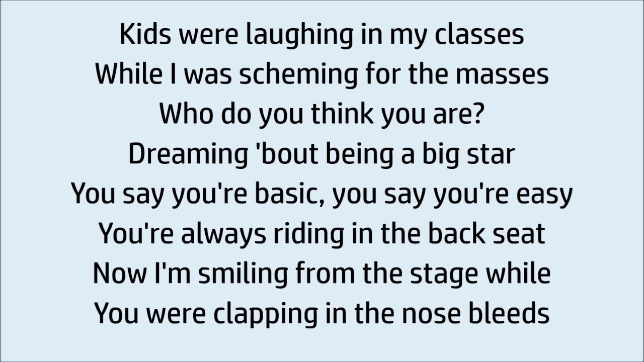 Imagine dragons thunder lyrics karaoke