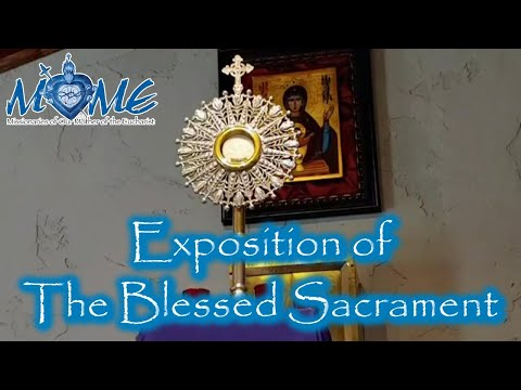 Exposition of the Blessed Sacrament with The Sisters | Mon, Mar. 29, 2021