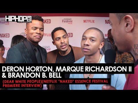 DeRon Horton, Marque Richardson II & Brandon B. Bell Talks Netflix's