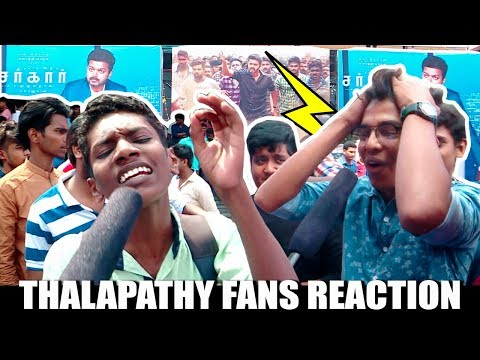 "Thalapathy Fans வெறித்தனம்"" | Hardcore Vijay Fans Reaction To Sarkar Movie!"