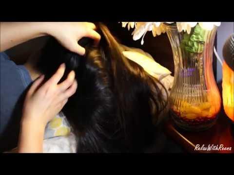 ASMR Relaxing Hair Play + Gentle Scalp Scratching (DUPLICATE, LOOPED VERSION), Partial Whispering