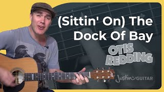 (Sittin' On ) The Dock Of Bay - Otis Redding - Easy Beginner Song Guitar Lesson (BS-402)