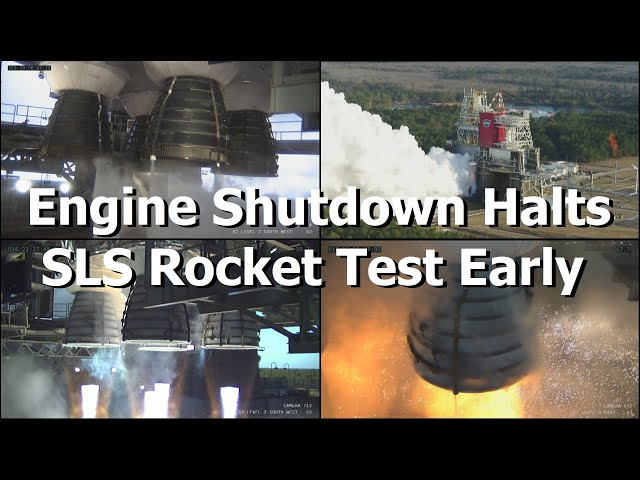First Full Test Of SLS Booster Fails as Engines Trigger Emergency Shutdown.