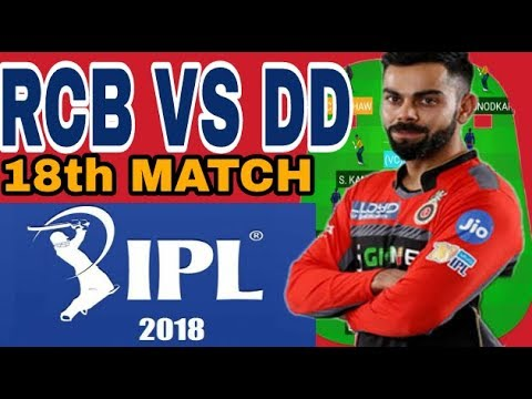 RCB VS DD IPL 2018   DREAM11 TEAM NEWS AND PLAYING 11 from YouTube · Duration:  3 minutes 7 seconds