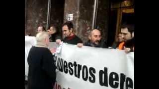 Concentración en la sede de Metro Bilbao-3