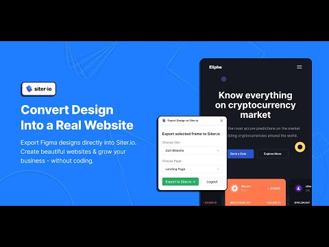 How to Export Figma Designs to Websites, No Code - Siter.io