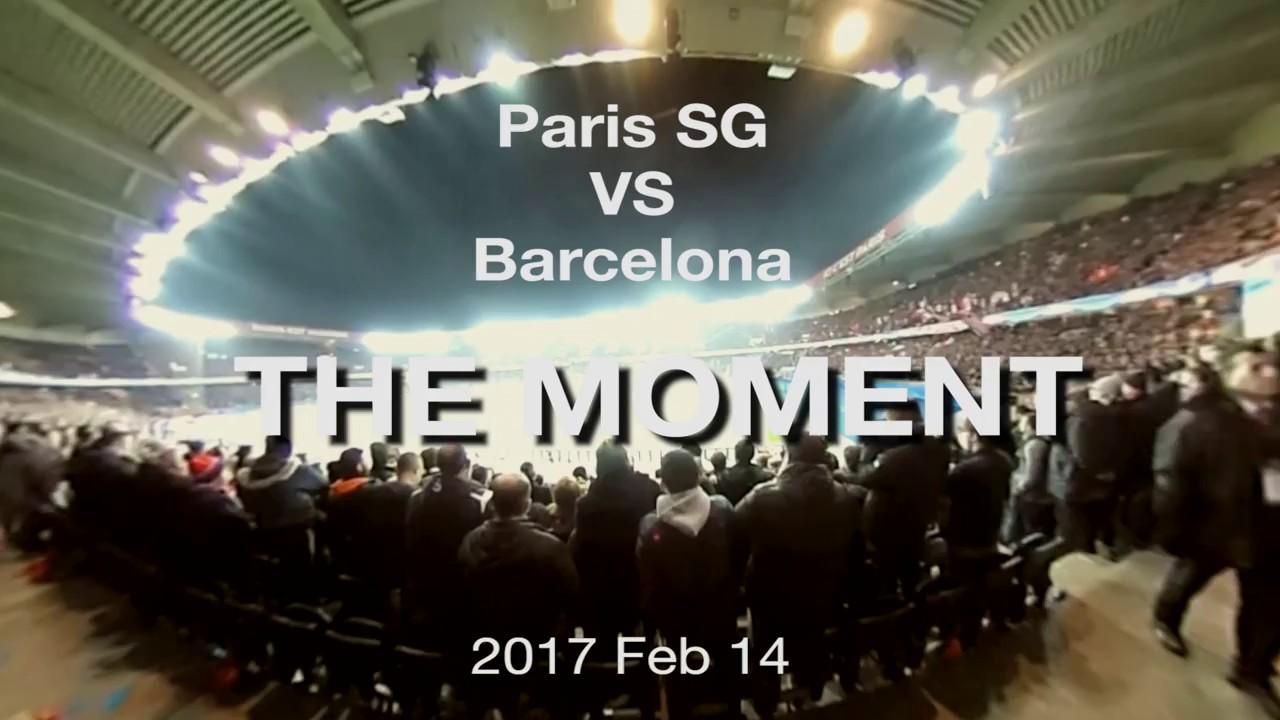 Champion's League 2017 Round 16, Paris SG VS  FC Barcelona, First Gaol Moment at Parc des Princes