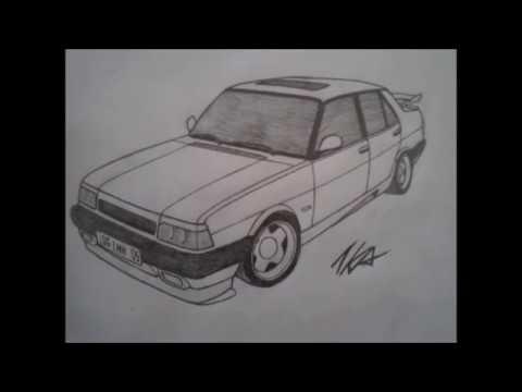 Tofaş Araba çizimleri Youtube