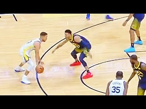 Stephen Curry Tries to Show Off Handles But it Goes Wrong As Jamal Murray Steals the Ball!