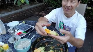 Làm món ăn miền quê cho vui // Bông bí đỏ nhồi cá thác lác tẩm bột chiên giòn