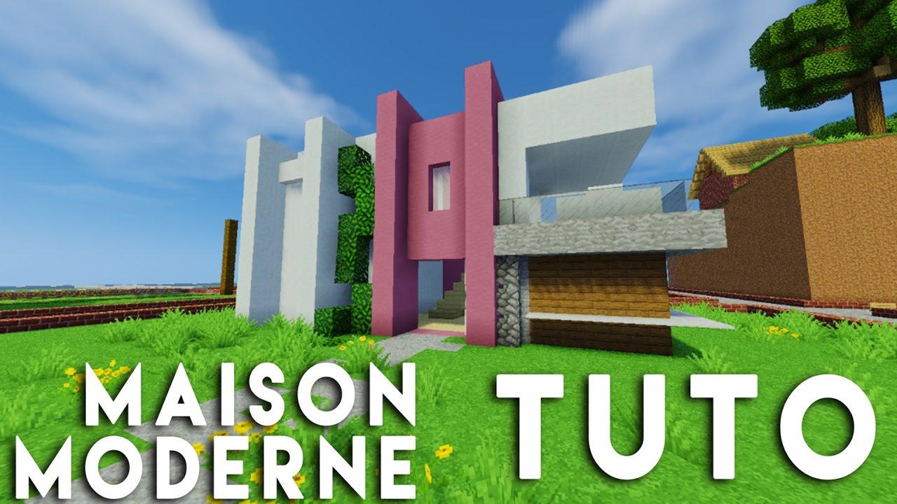 Minecraft Tuto construction maison moderne en 9 x 18