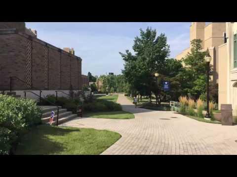 A quick walk through campus.