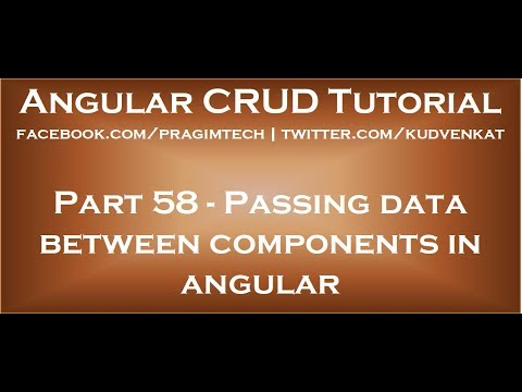 Passing data between components in angular
