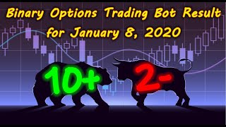 Binary Options Bot Trading Report for January 8, 2020 (10+ 2-) | Trading Signals in Telegram