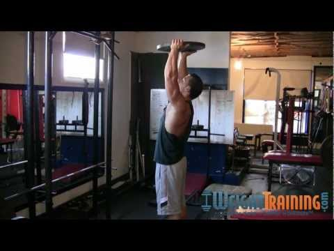 Overhead Plate Press - How to do Overhead Plate Presses
