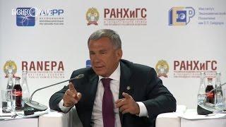 Как Рустам Минниханов критиковал федералов на Гайдаровском форуме