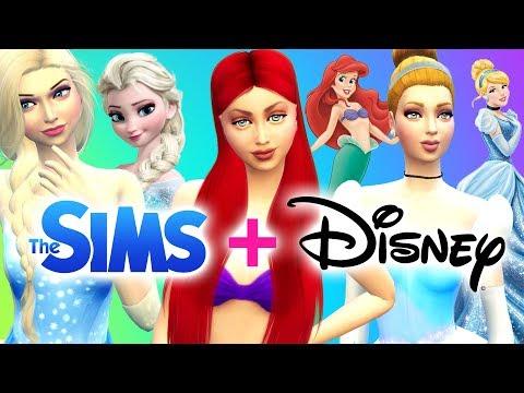 Transformando SIMS en PRINCESAS DE DISNEY - Elsa, Ariel y Cenicienta